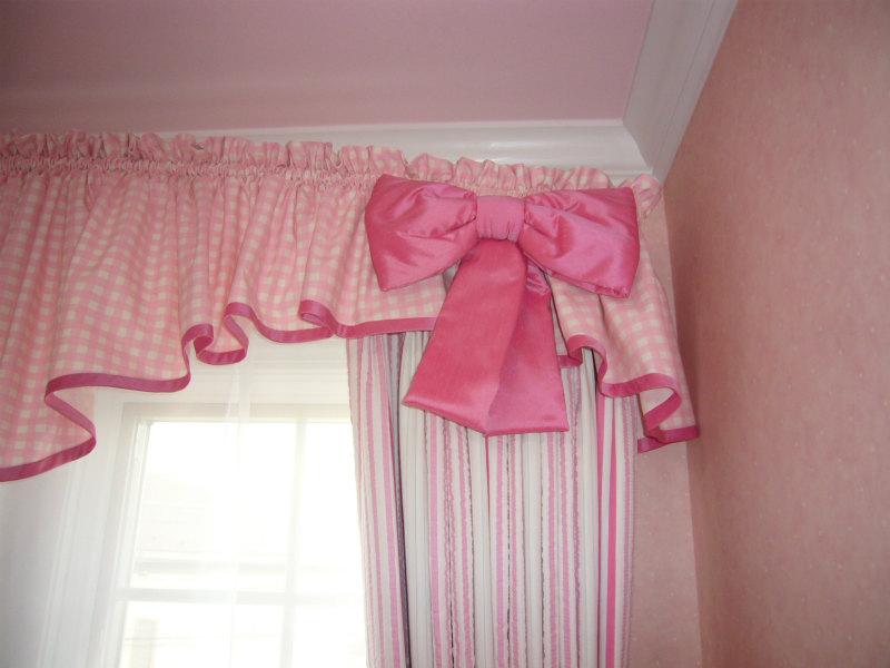 オーダーカーテン ピンク リボン