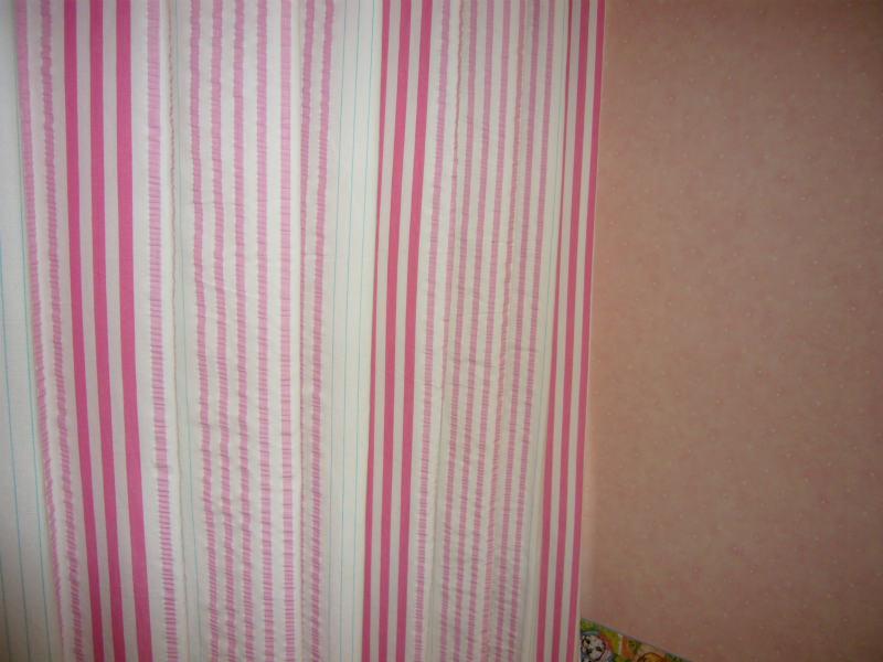 オーダーカーテン ピンクのかわいいカーテン
